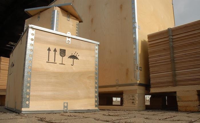 Sperrholzkisten zur Selbstmontage in verschiedenen Größen