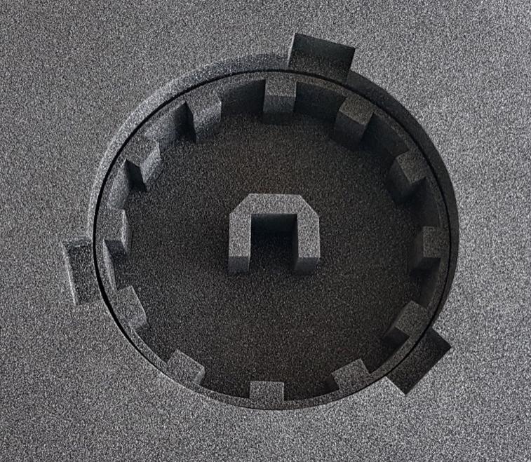 Polster für Optik-Baugruppe