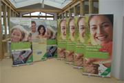 Roll-Ups in 2 unterschiedlichen Größen, Displays mit Premium Qualität