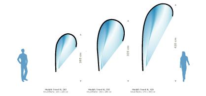 Wechselfahnen für das Beachflag Modell Trend XL bestellen