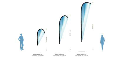 Wechselfahnen für das Beachflag Modell Trend