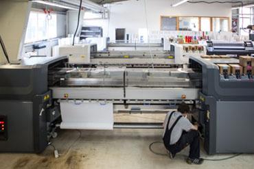 Latexdruck von bis zu 2640mm moeglich