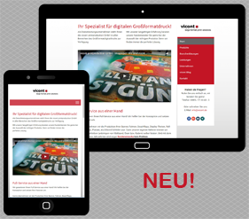Neue vicont Website für digitalen Grossformatdruck ist fertig!