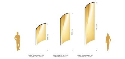 Wechselfahnen für Beachflag Elegance Vario