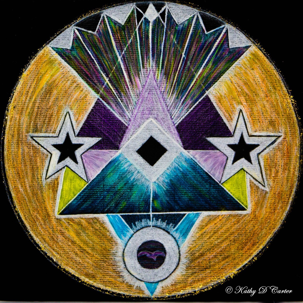 """Second Chakra"" Healing Art Mandala by Kathy D Carter"