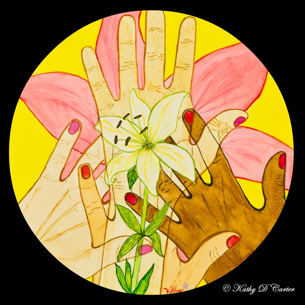 """Mothering Issues"" Healing Art Mandala by Kathy D Carter"