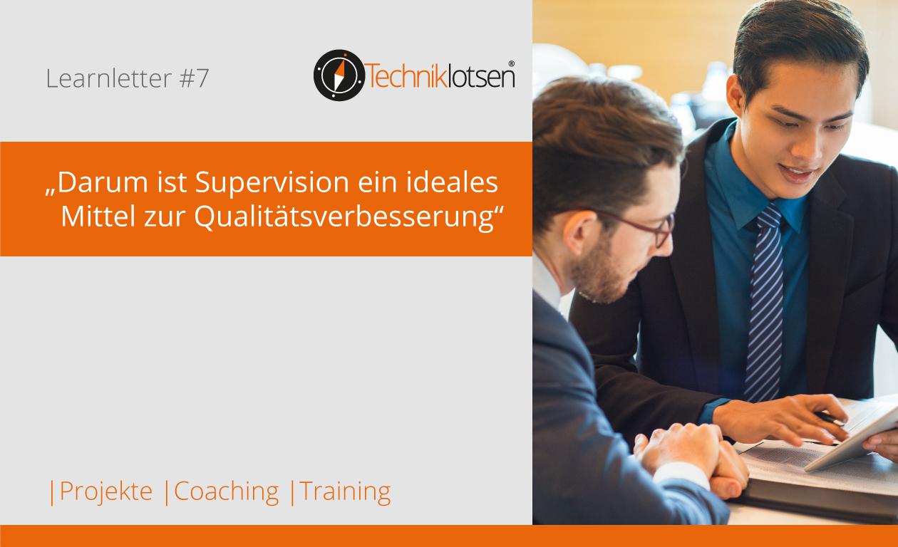 Darum ist  Supervision ein ideales Mittel zur Qualitätsverbesserung