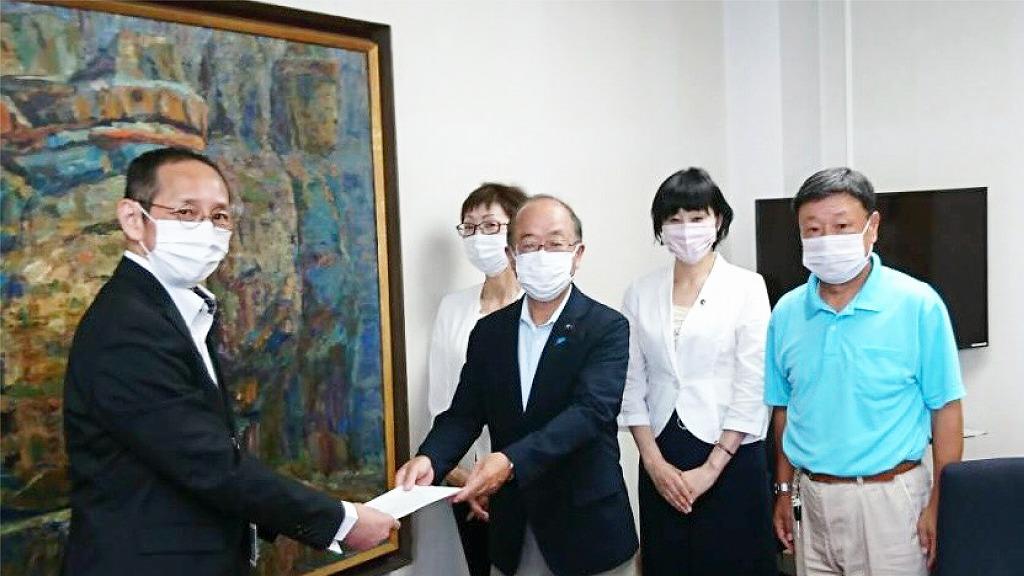 杵市役所にて、核廃絶と平和行政に関する要請を行いました