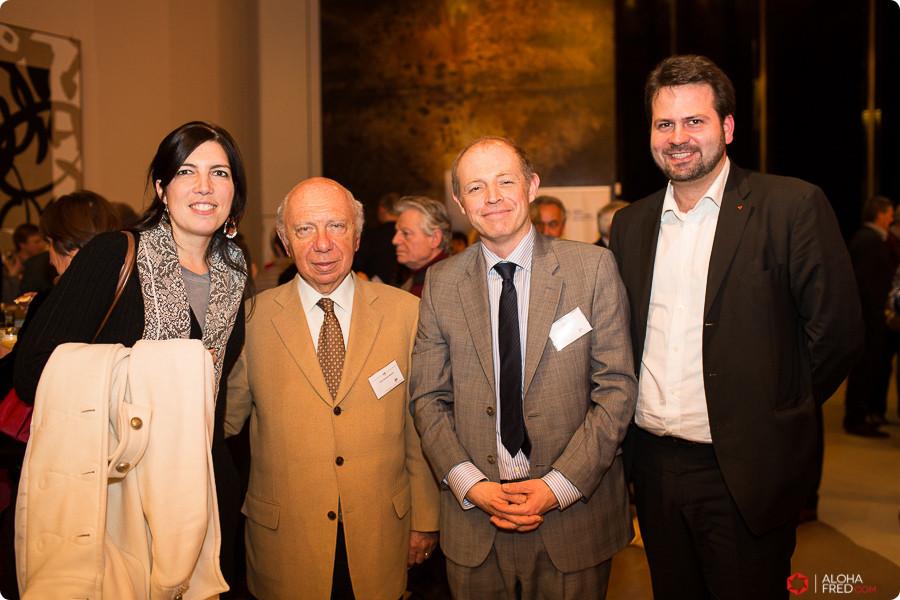 Remise des médailles aux Chevaliers du Coeur avec le Sénateur Jacques Brotchi, le Prof. Scavée (cardiologie UCL) et Sébastien Bovy (conseiller communal à Liège)