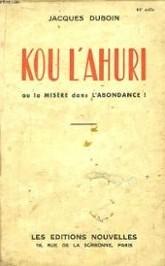 Kou l'ahuri, Jacques Duboin (1934)