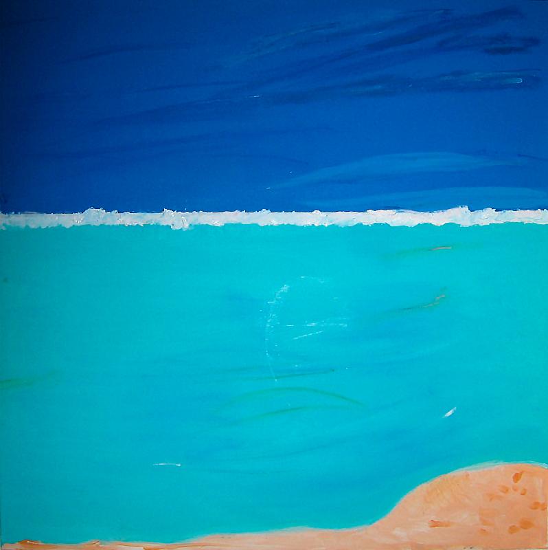 """Öl auf Leinwand """"Fidji"""", Werk-Nr. 088, Florence Solvay"""