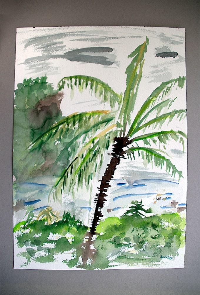 "Thailand Ko Tao ""Palme"", Werk-Nr. 146, Florence Solvay"