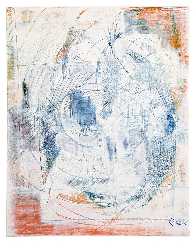 """Abstrakt """"Vorfrühling"""", Werk-Nr. 110, Florence Solvay"""