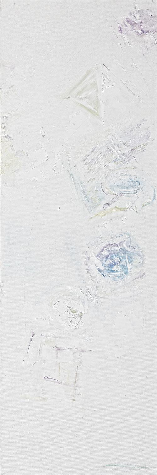 """Weiße Bilder """"Formen erscheinen"""", Werk-Nr. 118, Florence Solvay"""