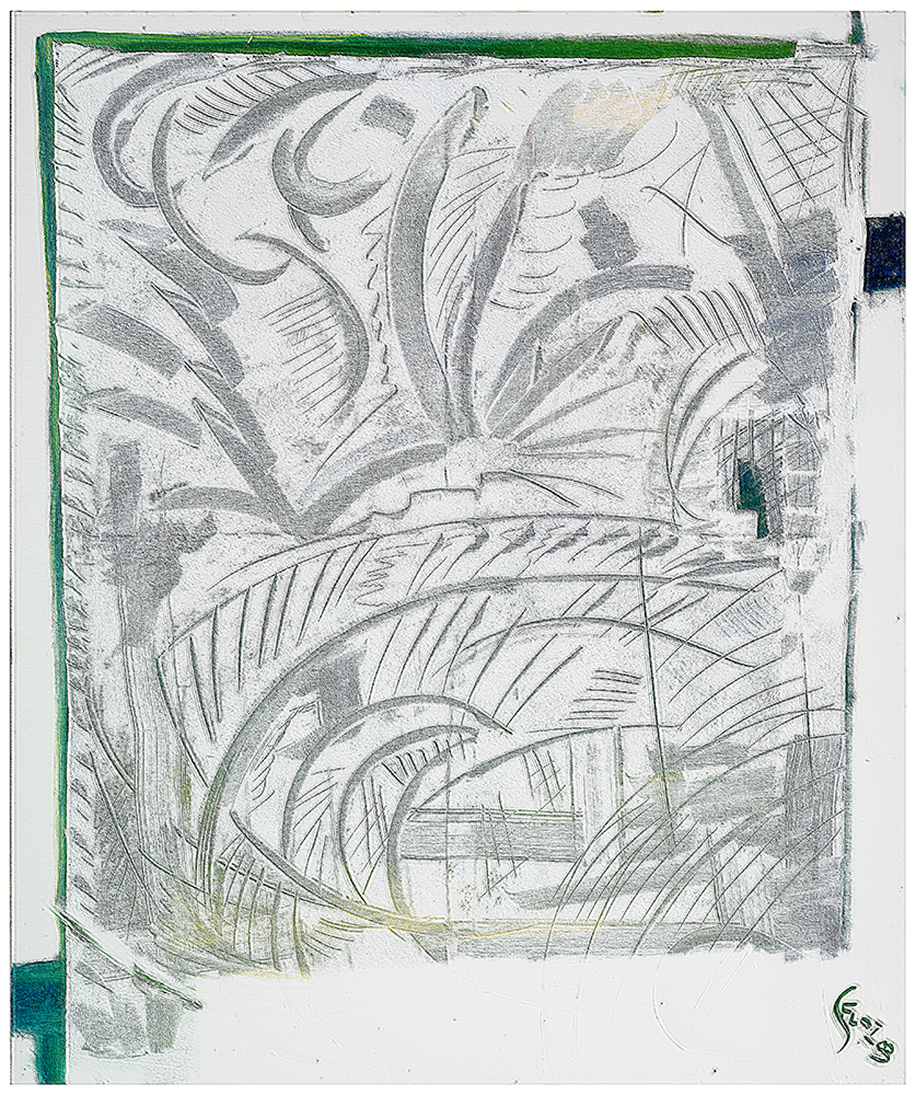 "Abstrakt ""Sommer II"", Werk-Nr. 113, Florence Solvay"