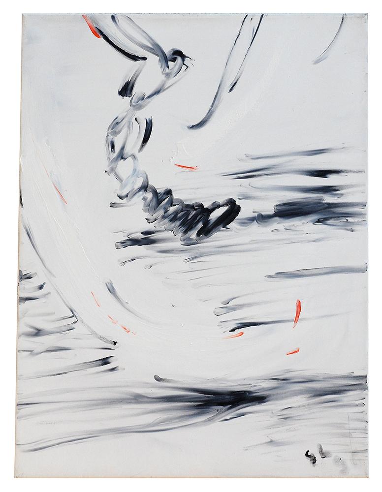 "Öl auf Leinwand ""Triptychon II"", Werk-Nr. 018, Florence Solvay"