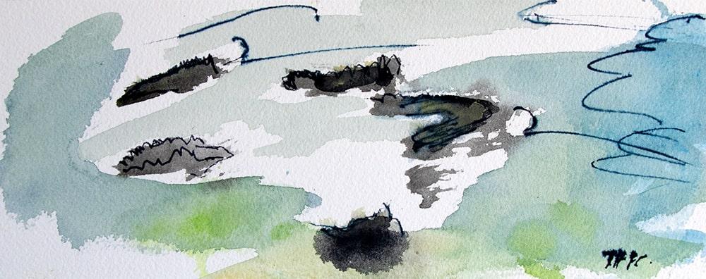 """Thailand Khao Lak """"Steine im Wasser"""", Werk-Nr. 149, Florence Solvay"""