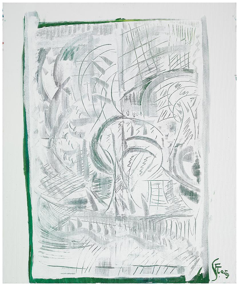 "Sgraffiti ""Sommer I"", Werk-Nr. 112, Florence Solvay"