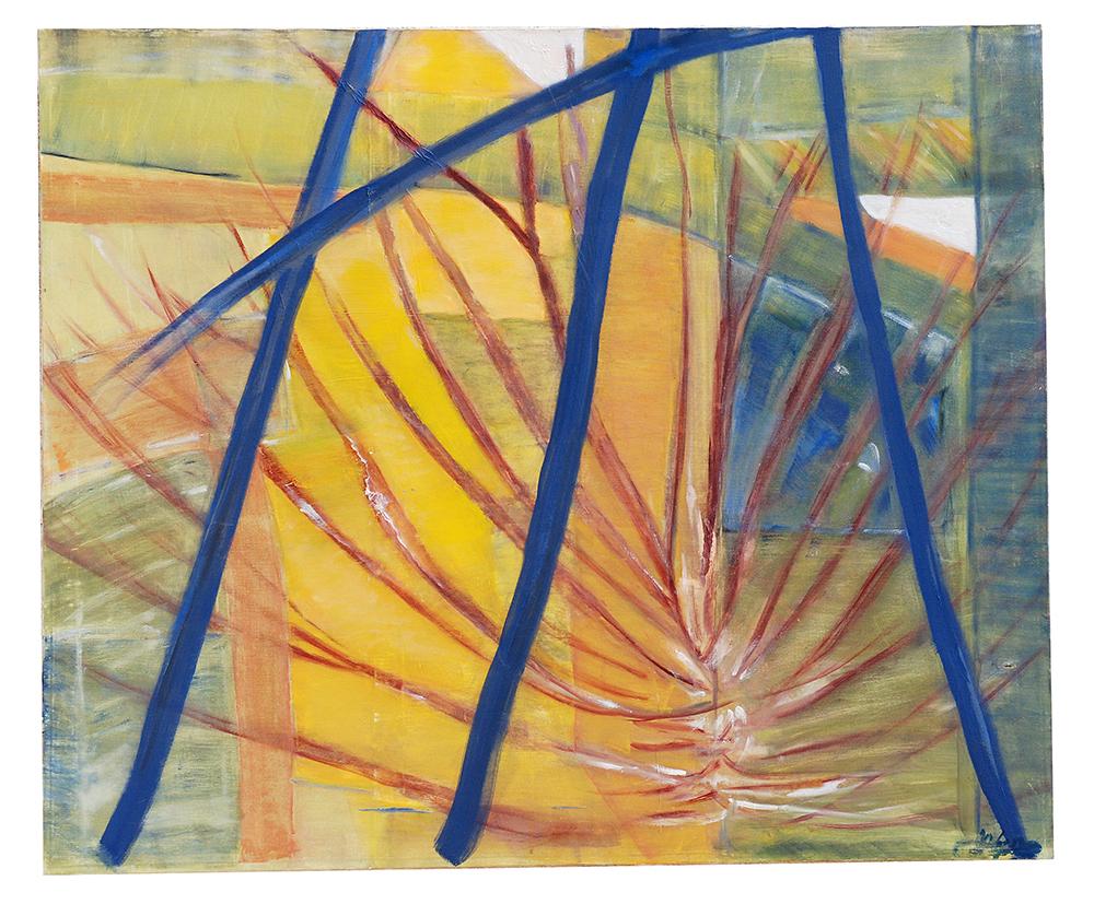 """Abstrakt """"Der Tempel ist eröffnet"""", Werk-Nr. 025, Florence Solvay"""