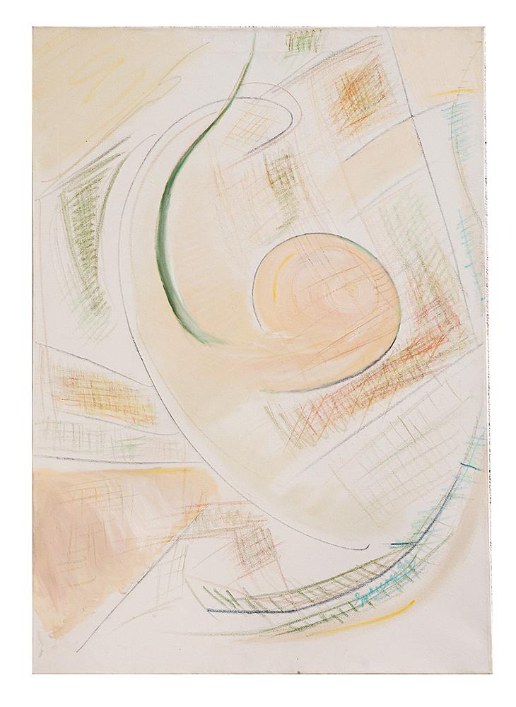 """Abstrakt """"Ölkritzelei – Das Ohr"""", Werk-Nr. 036, Florence Solvay"""
