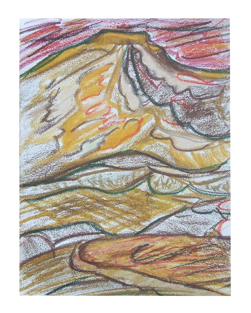"Öl auf Leinwand ""Berge IV"", Werk-Nr. 056, Florence Solvay"