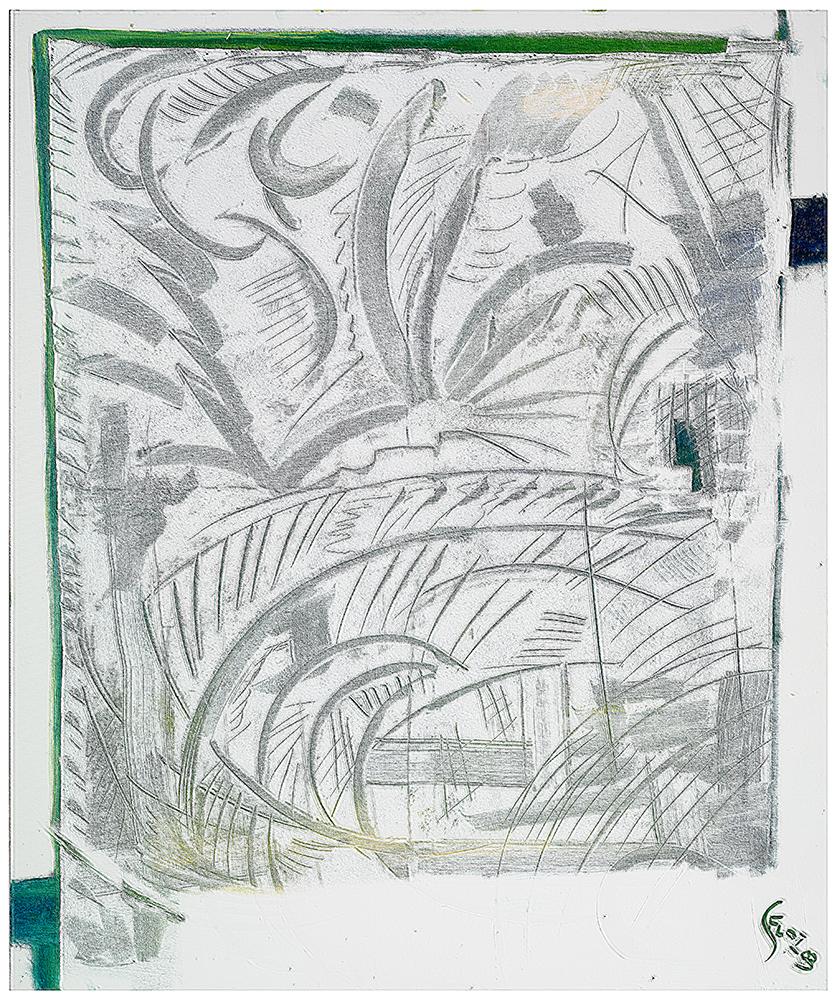 "Sgraffiti ""Sommer II"", Werk-Nr. 113, Florence Solvay"