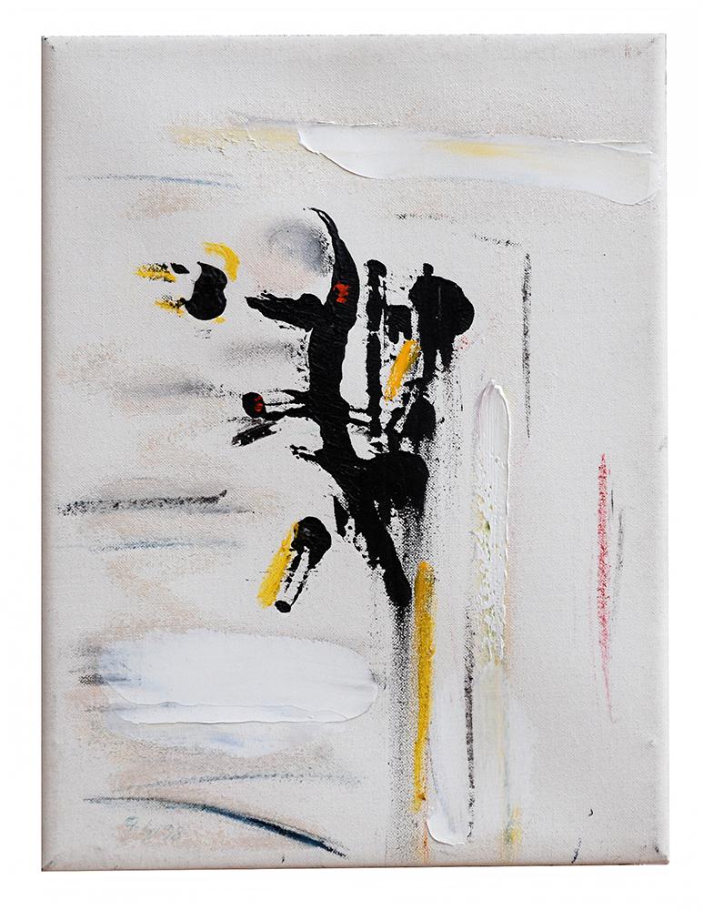 "Abstrakt ""Kreuzvariation II"", Werk-Nr. 002, Florence Solvay"