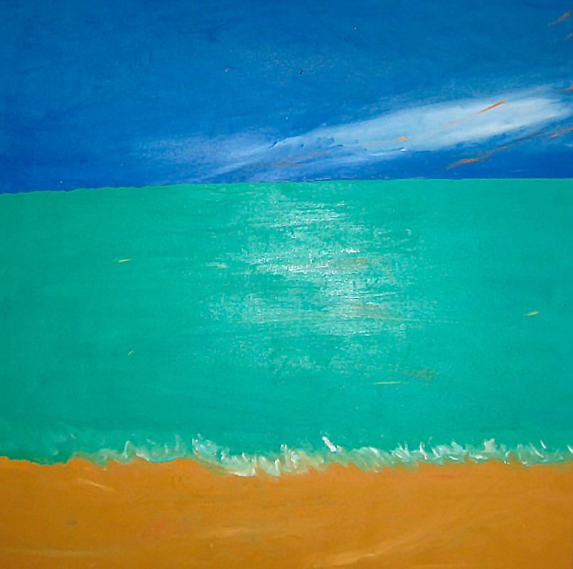 "Öl auf Leinwand ""Bali"", Werk-Nr. 087, Florence Solvay"