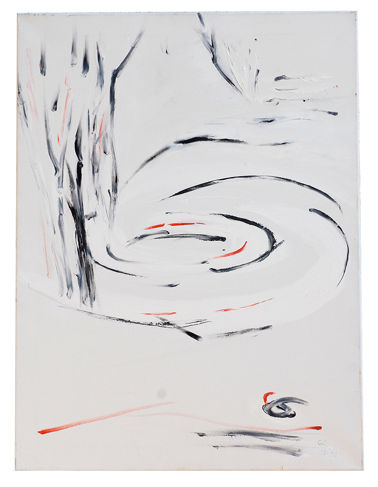 "Öl auf Leinwand ""Triptychon I"", Werk-Nr. 017, Florence Solvay"