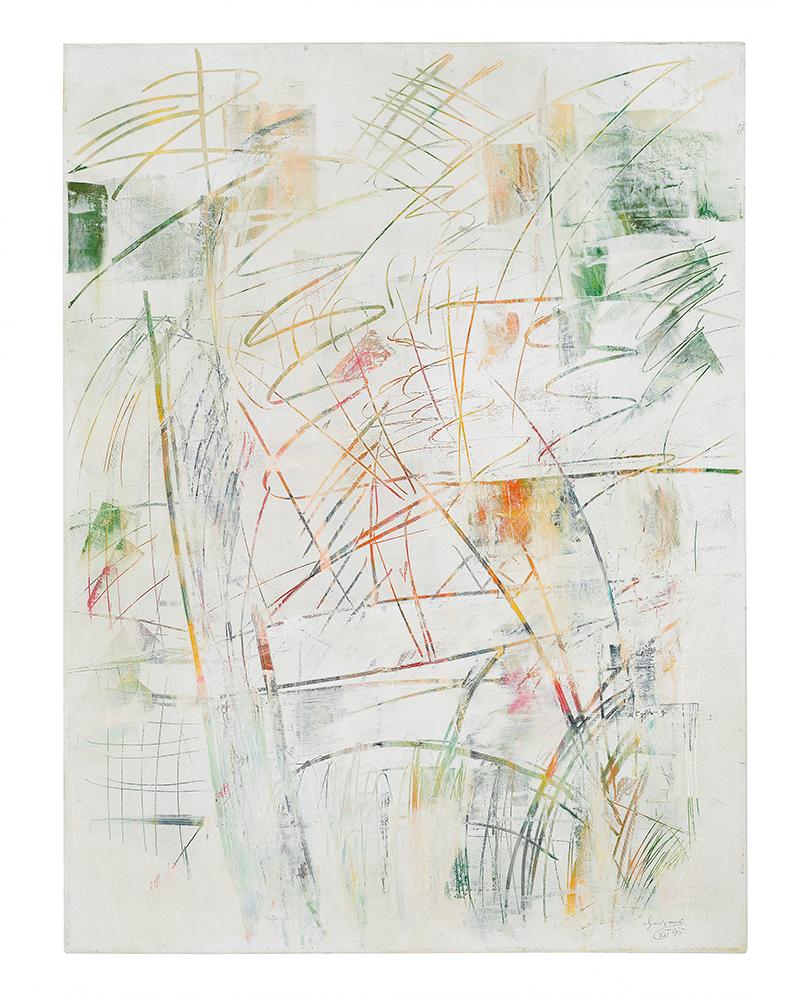 "Abstrakt ""Drei Winter III"", Werk-Nr. 064, Florence Solvay"