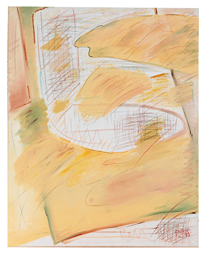 "Abstrakt  ""Ölkritzelei Herbst"", Werk-Nr. 023, Florence Solvay"