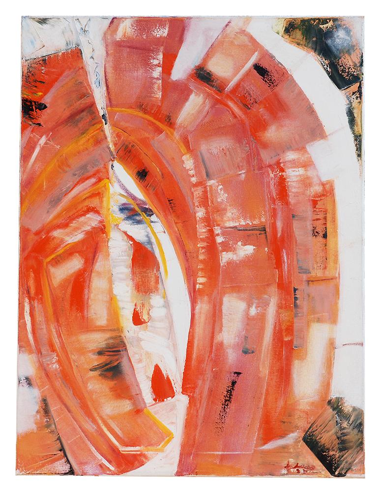 "Öl auf Leinwand ""Das rote Tor"", Werk-Nr. 020, Florence Solvay"