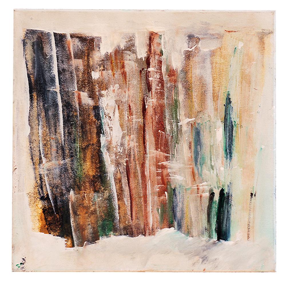 """Abstrakt """"Winterwald"""", Werk-Nr. 044, Florence Solvay"""