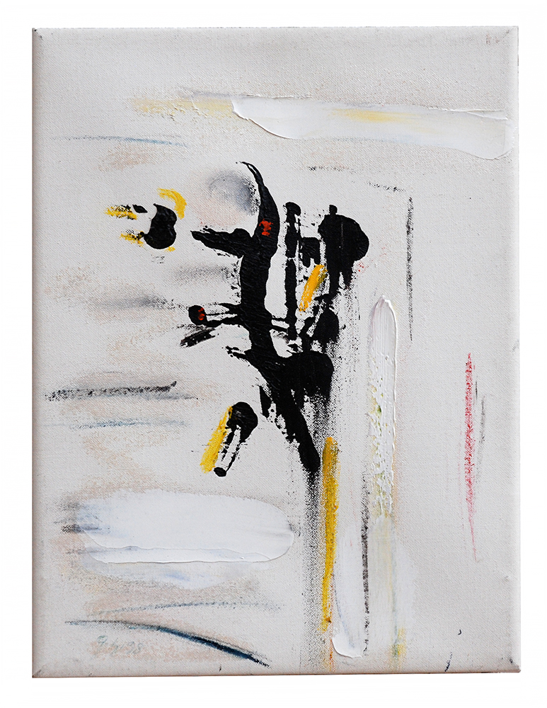 "Öl auf Leinwand ""Kreuzvariation"", Werk-Nr. 002, Florence Solvay"