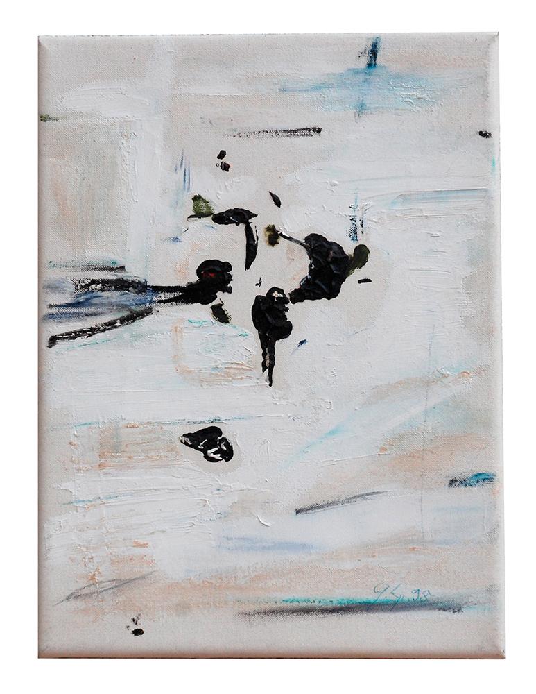 """Abstrakt """"Kreuzvariation I"""",  Werk-Nr. 001, Florence Solvay"""