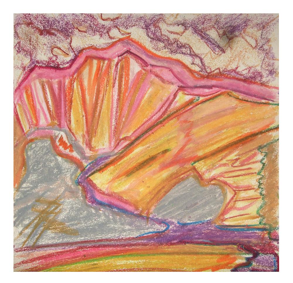 """Öl auf Leinwand """"Berge III"""", Werk-Nr. 095, Florence Solvay"""