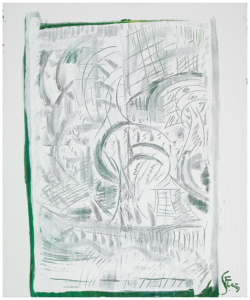 "Abstrakt ""Sommer I"", Werk-Nr. 112, Florence Solvay"