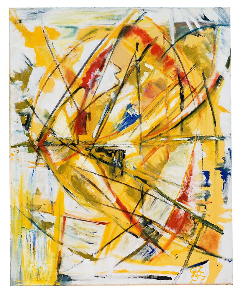 "Öl auf Leinwand ""Ikarus"", Werk-Nr. 016, Florence Solvay"