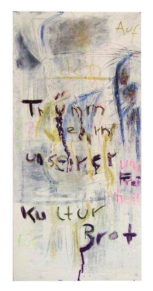 "Sgraffiti ""Plakat Kultur"", Werk-Nr. 103, Florence Solvay"