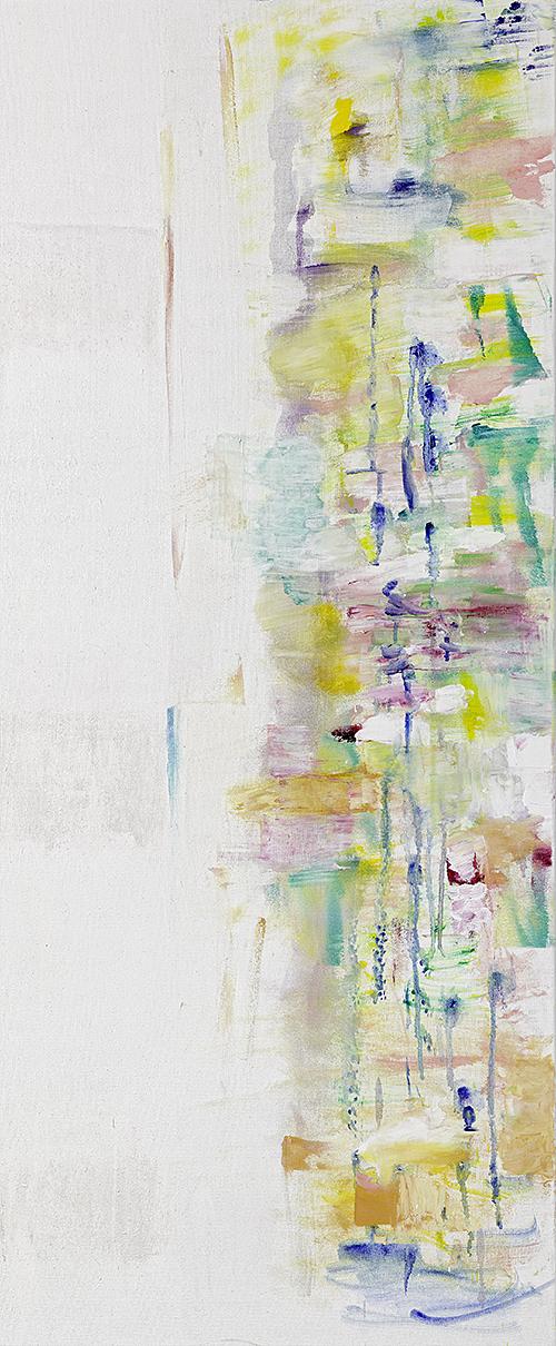 """Weiße Bilder """"Dyptychon II"""", Werk-Nr. 119b, Florence Solvay"""