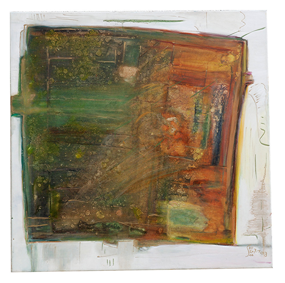 "Öl auf Leinwand ""Die Tür zu Bethlehems Stall"", Werk-Nr. 040, Florence Solvay"