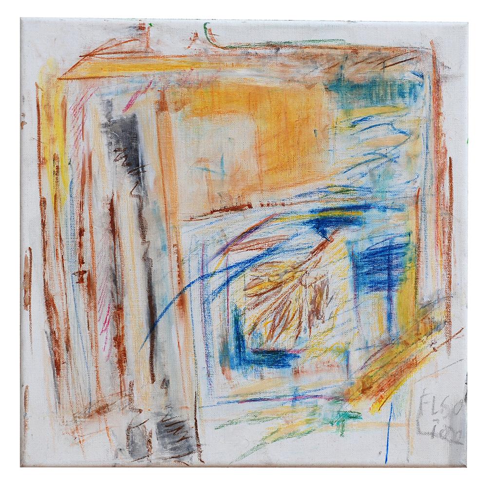 """Öl auf Leinwand """"Innenansicht"""", Werk-Nr. 008, Florence Solvay"""