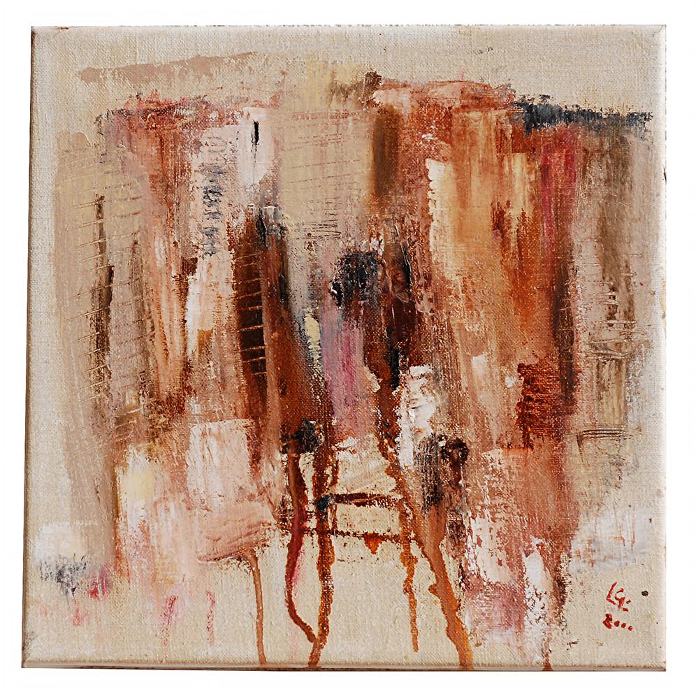 "Abstrakt ""Blut"", Werk-Nr. 011, Florence Solvay"