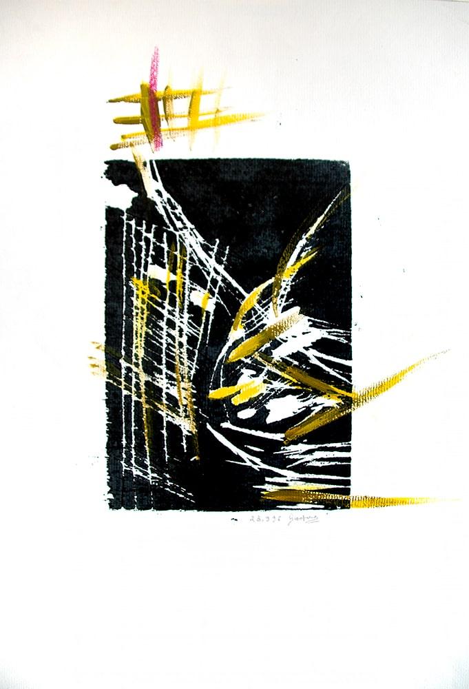 "Holzsriss, ""Flugobjekte III"", Werk-Nr. 137, Florence Solvay"