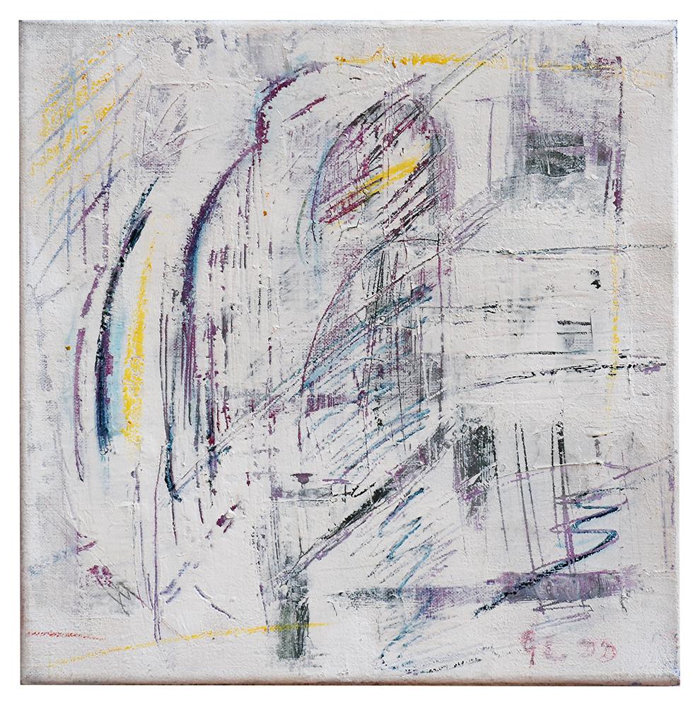 "Sgraffiti ""Architektur lila"", Werk-Nr. 005, Florence Solvay"