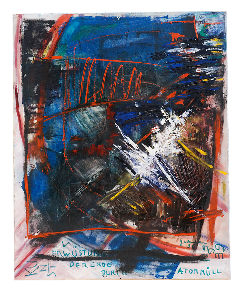"Öl auf Leinwand ""Plakat gegen Atommüll"",  Werk-Nr. 015, Florence Solvay"
