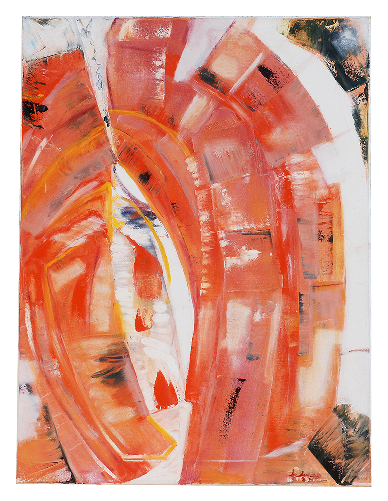 "Abstrakt ""Das rote Tor"", Werk-Nr. 020, Florence Solvay"