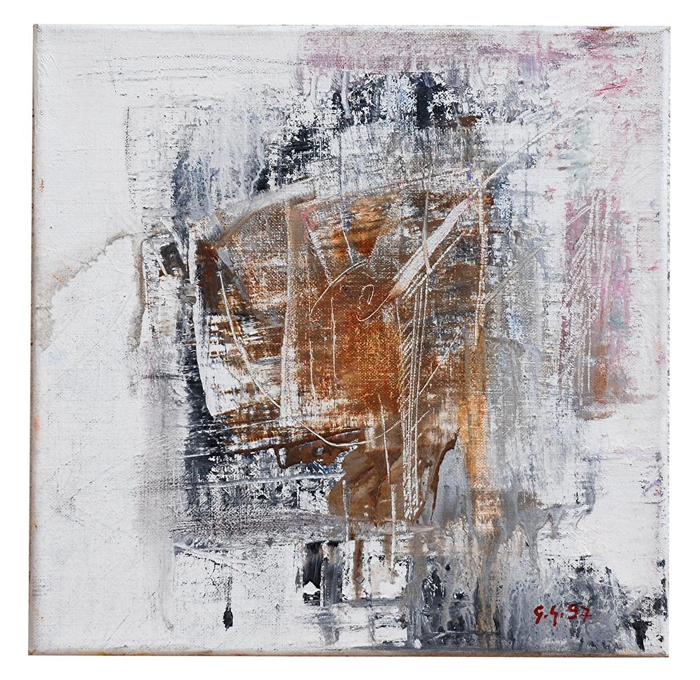 "Abstrakt ""Fenster im Regen – Ligurien"", Werk-Nr. 009, Florence Solvay"