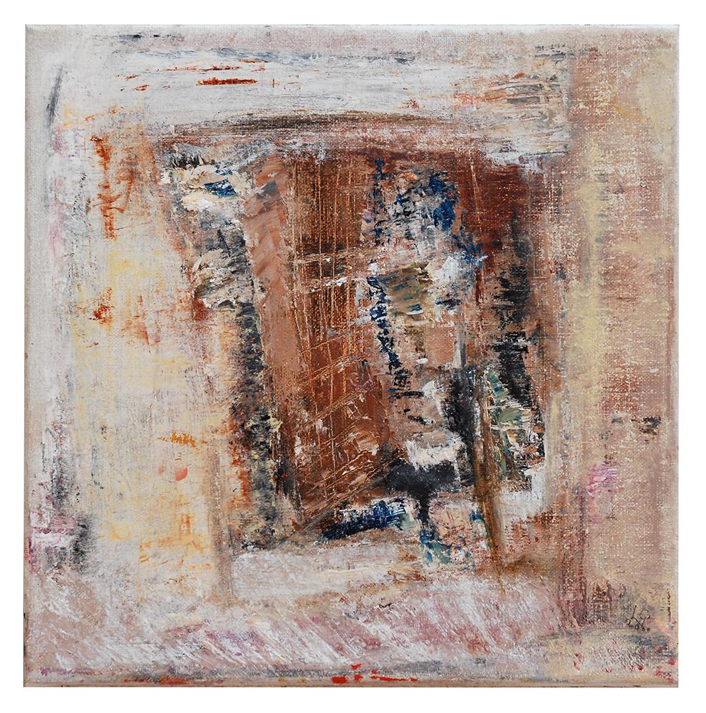 "Öl auf Leinwand ""Felsengraben"", Werk-Nr. 010, Florence Solvay"