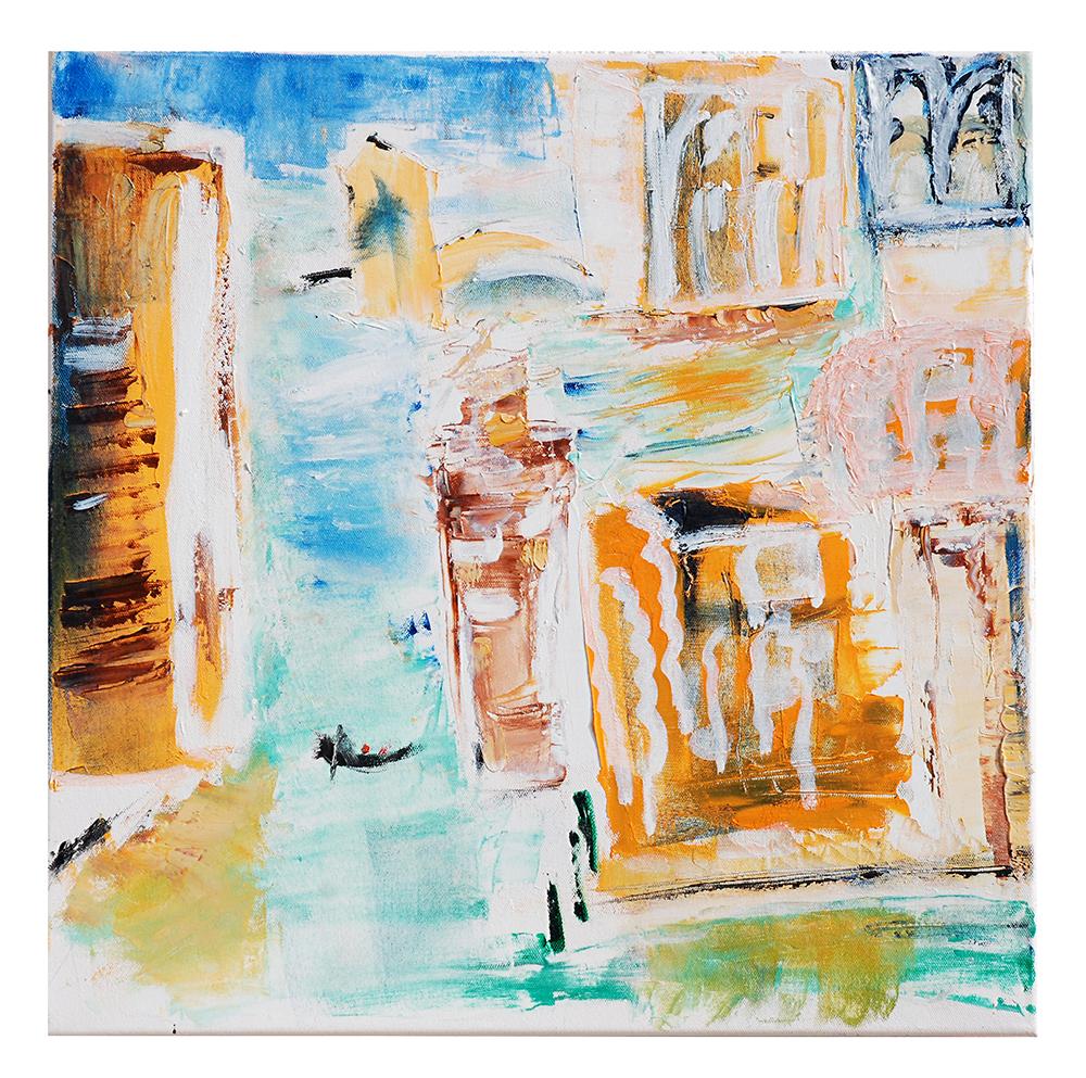 """Öl auf Leinwand """"Venedig im Sonnenlicht"""", Werk-Nr. 033, Florence Solvay"""